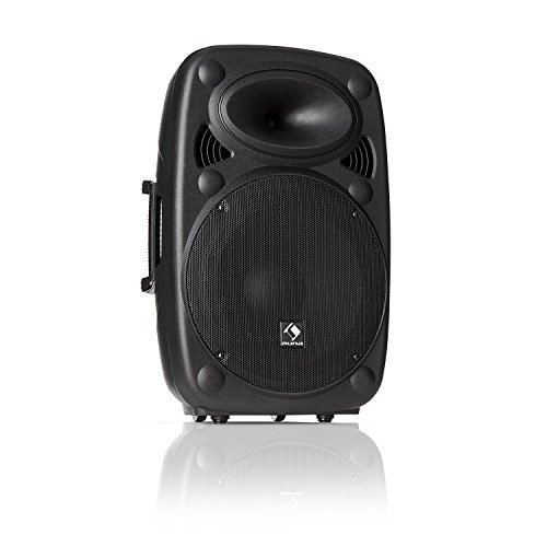 "auna SLK-12-A - Aktiver PA Lautsprecher, mobile PA Anlage, Bodenmonitor, 12"" (30 cm), 700 W max, XMR Bass Technology, Bluetooth, USB, SD, MP3, Line In/Out, Flansch-Anschluss, schwarz"