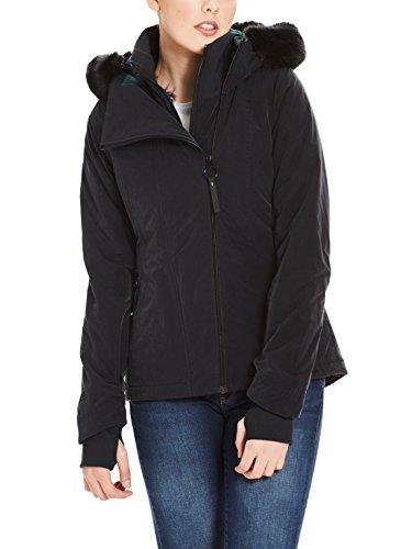Bench Damen CORE Asymmetrical Jacket Jacke, Schwarz (Black Beauty Bk11179), Large