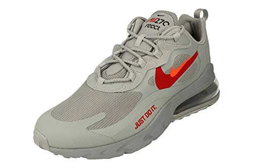 Nike Air Max 270 React Uomo Running Trainers CT2203 Sneakers Scarpe (UK 8 US 9 EU 42.5, Wolf Grey Hyper Crimson 002)