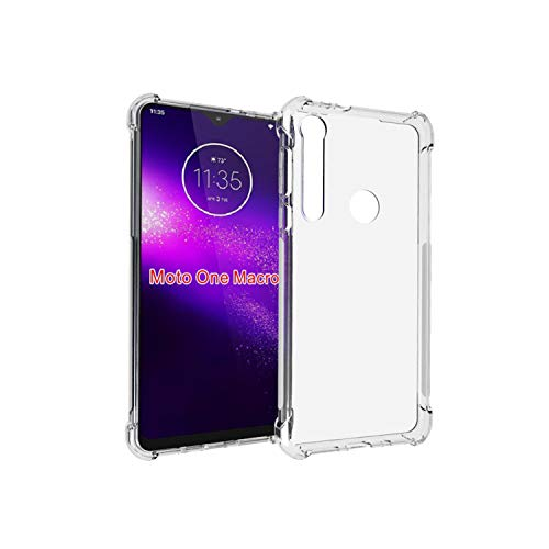 NUPO Hülle für Moto G8 Play/Motorola One Macro, Transparent TPU Silikon Handyhülle Crystal Durchsichtige Schutzhülle Hülle für Moto G8 Play Smartphone