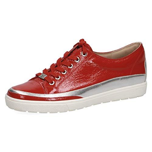 CAPRICE 23654-22 - Zapatillas deportivas con cordones para mujer, color Rojo, talla 38.5 EU