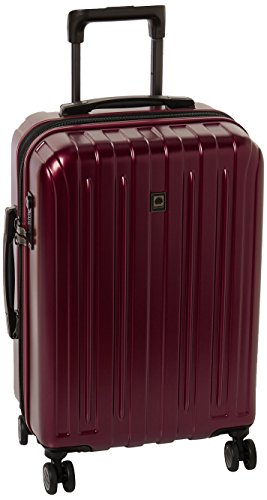 DELSEY Paris Titanium Hardside Expandable Luggage with Spinner Wheels, Purple, Carry-On 21 Inch