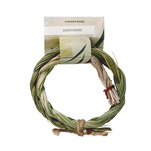 Juniper Ridge Sweetgrass Braid | Aromatherapy | Natural Incense | No Synthetic Fragrance | 6 Inch Braid | Single Count