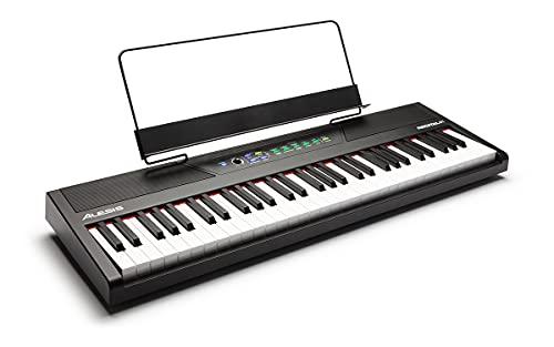 Alesis Recital 61 - Piano digitale - Pianola con tasti semipesati, presa cuffie, alimentatore, casse integrate e 10 Voci Premium