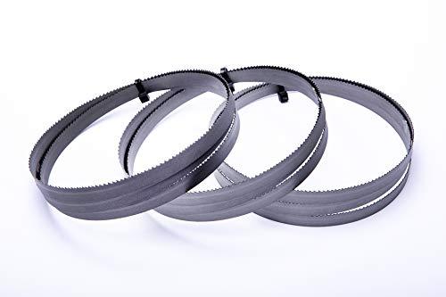 Encut - Juego de 3 hojas para sierra de cinta (1638 x 13 x 0,65 mm, bimetal, 10-14 ZpZ)