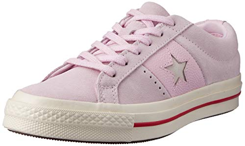 Converse One Star Cuir Fashion Baller Suede Ox Sneaker Damen Rose - 36 - Sneaker Low Shoes