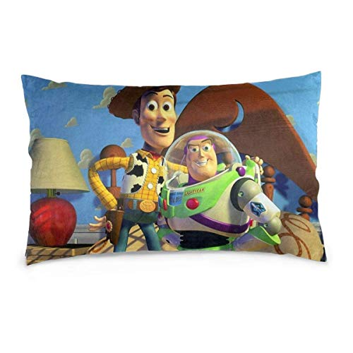 zhenglongbaihuodian Pillow Case Toy Story Rectangular Pillowcases Throw Cushion Covers Pillow Cover for Car Sofa Bed Home 20x30inch