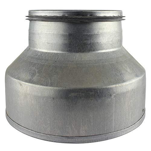 MKK - 20085 – Reductor de aluminio flexible en espiral, tubo flexible de aluminio, junta en espiral, 80 mm de diámetro, 160 mm de diámetro.