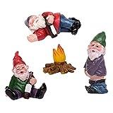 Juego de figuras de jardín en miniatura, grandes borrachos