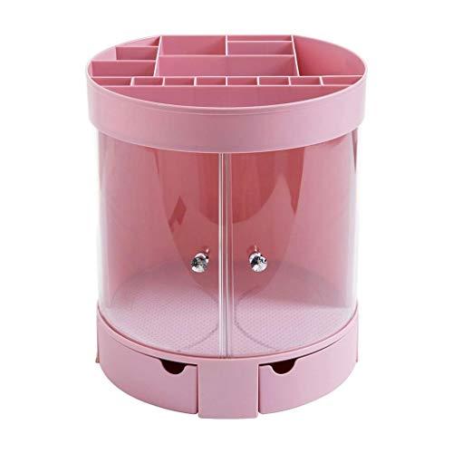 SHYPT Zhzpsn Kosmetische Aufbewahrungsbox Makeup Organizer Station Desktop Hohe Kapazität Schminktisch Aufbewahrungsbox Tisch Hautpflege Lagerregal (Farbe: Rosa (Color : Pink)