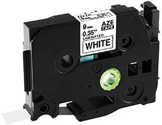 ملحقات الطابعة ثلاثية الأبعاد 5 قطع Tze-221 9 مم أسود على أبيض Tze221 Tz221 Tze 221 Tz Tape لـ P-Touch Label Maker أشرطة ا...