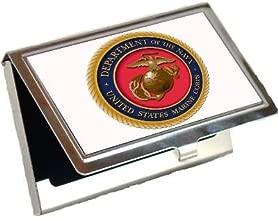 usmc business card holder