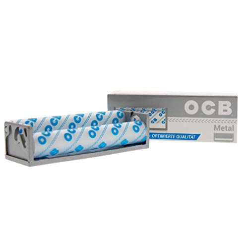 OCB - Rodillo para cigarrillos (metal), color plateado y...
