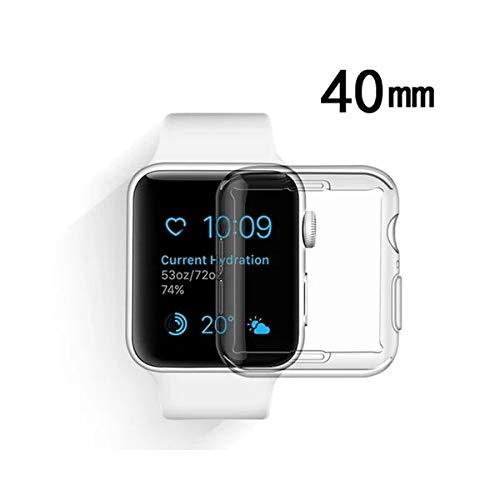 Capa de Silicone para o Apple Watch Serie 4, 5 e 6 de 40mm (Transparente)