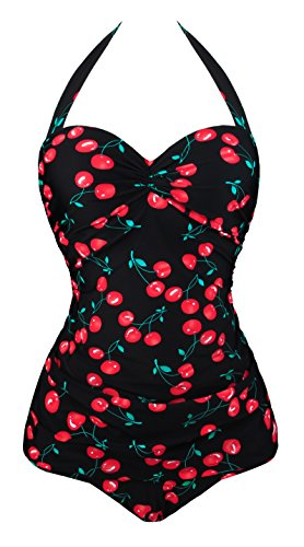 Angerella Vintage 50s Pin Up Bademode One Piece Monokinis (SST045-B1-5XL)
