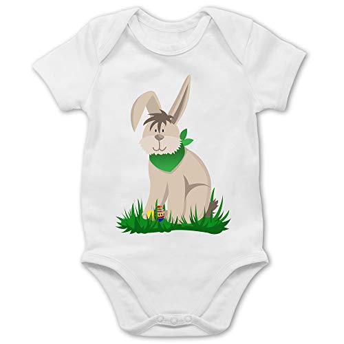 Shirtracer Ostern Baby - Osterhase - 1/3 Monate - Weiß - osterhasen Body - BZ10 - Baby Body Kurzarm für Jungen und Mädchen