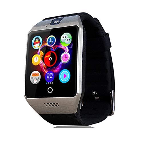 Xinnegen Q18S - Orologio da Polso Bluetooth con Fotocamera e Slot per Scheda SIM TF, monitoraggio del Sonno, promemoria sedentarietà, Registrazione del Telefono
