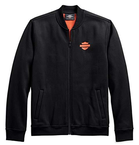HARLEY-DAVIDSON Herren Sweatshirt Fleece Jacke mit Reissverschluss, XL