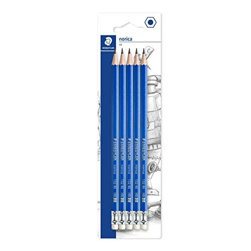 Staedtler Norica Eraser Tipped Pencil (Pack of 5), 132 46BK5DST