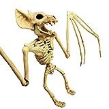 Ysoom Tier Skeleton Knochen Horror Halloween DekorationTierskelett Modell Bat/Frog/Lizard/Krähe/Maus/Spinne Knochen Halloween Party Dekoration