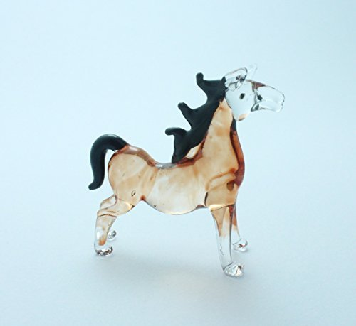 Standing Brown Horse Animal Handcrafted MINIATURE HAND BLOWN GLASS FIGURINE Collection