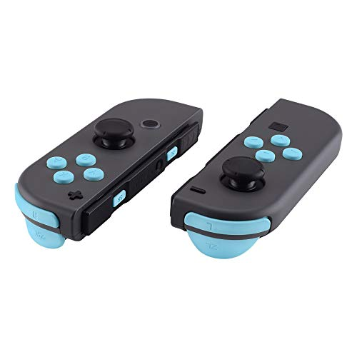 eXtremeRate Heaven Blue Replacement ABXY Direction Keys SR SL L R ZR ZL Trigger Buttons Springs, Full Set Buttons Repair Kits with Tools for Nintendo Switch Joy-Con JoyCon Shell NOT Included