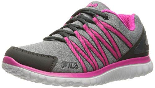 Fila Damen Laufschuh Memory Asymmetrisch, Grau (Monument/Dark Shadow/Pink Glo), 36 EU