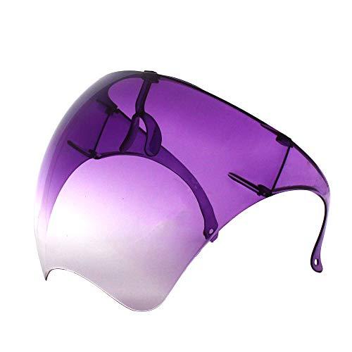 Futuristische Sonnenbrille, groß, verspiegelt, Unisex, flaches Visier für das gesamte Gesicht (1 Paar) (Farbverlauf)