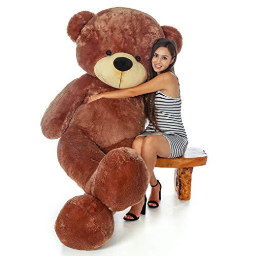 Giant Teddy 7 Foot Life Size Bear Cuddles - The Biggest Teddy Bear! (Mocha Brown)