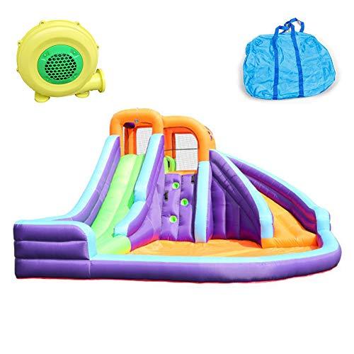GHH Castillo Hinchable para Niños Parque De Diversiones Al Aire Libre Juguetes Bouncer with Slide Soplador 420x365x225 cm Tobogán para Jardín