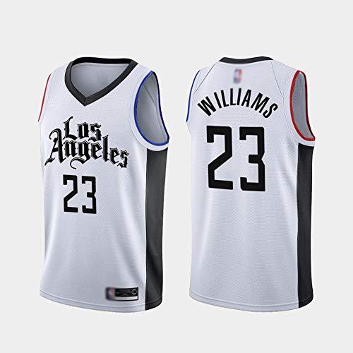 HBCC Camiseta # 23 Louis Williams LA Clippers,Camiseta sin Mangas de Baloncesto para niños,versión Latina,Camiseta Bordada Fina,Uniforme,Ropa Deportiva,Blanco-A_XXL_Equipo de Deporte