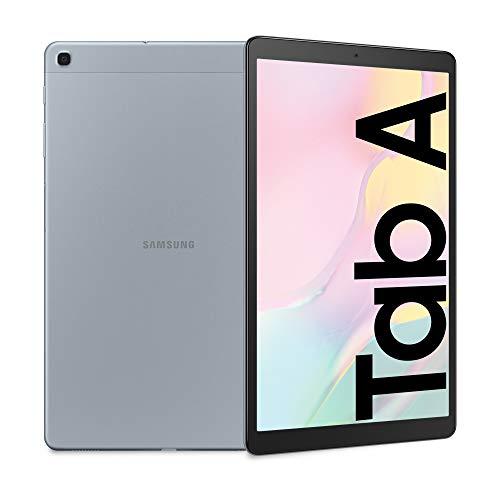 Samsung Galaxy Tab A 10.1, Tablet, Display 10.1  WUXGA, 32 GB Espandibili, RAM 2 GB, Batteria 6150 mAh, Wi-Fi, Android 9 Pie, Silver [Versione Italiana]