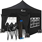 <span class='highlight'><span class='highlight'>SUNMER</span></span> 3x3M Pop-Up Gazebo with 4 Sides - Fully Waterproof with Heavy Duty Steel Frame - Wheeled Bag Included for Easy Transportation - Black