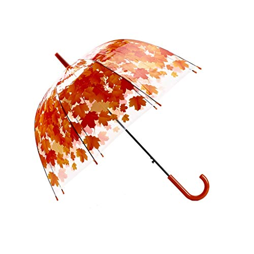 Mjd paraplu esdoornblad rechte schacht dikke paddenstoel gebogen prinses transparant birdcage paraplu