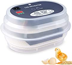 Egg Incubator, HBlife 9-12 Digital Fully Automatic Incubator for Chicken Eggs, Poultry Hatcher for Chickens Ducks Goose Birds