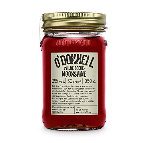 "O'Donnell Moonshine ""Wilde Beere"" Likör (350 ml) I Made in Germany I Natürliche Zutaten I 25% Vol. Alkohol"