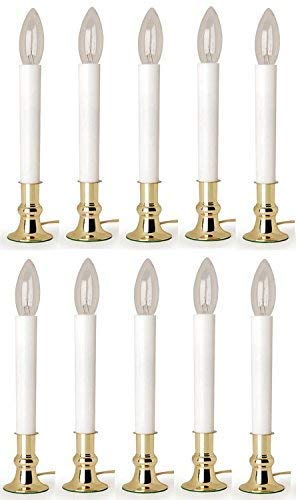 Darice # 6206 9' Electric Window Candle with Automatic Light Sensor - Quantity 10