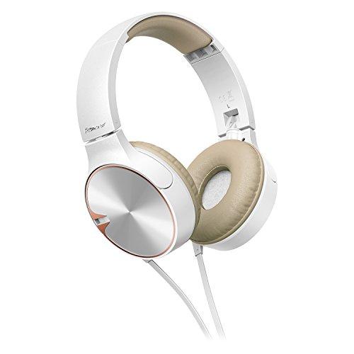 Pioneer SE-MJ722T-T bassstarker Stylischer on-Ear-Kopfhörer optimiert für Android/Apple Smartphone braun