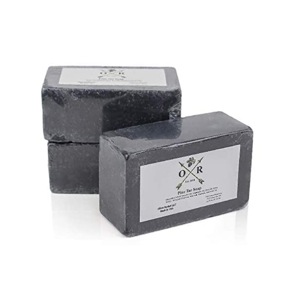 Oliver Rocket Pine Tar Soap - Men's Face and Body Soap with Pine Tar Extract and Charcoal - Homemade in USA with Coconut… 1