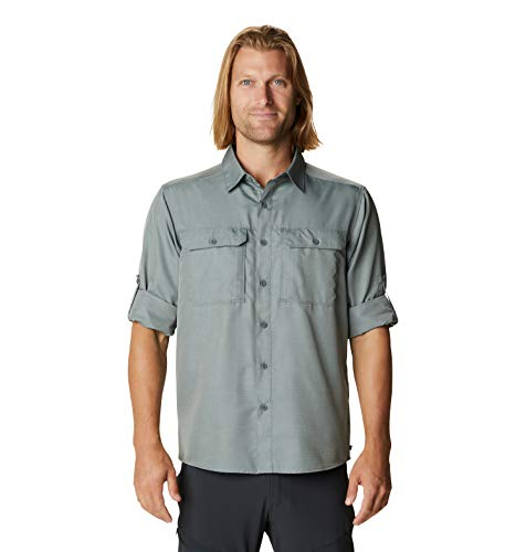 Mountain Hardwear Men's Standard Canyon Long Sleeve Shirt, Wet Stone, XX-Large