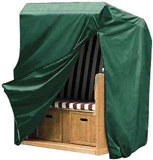 WOLTU Cubierta Impermeable para Muebles Resistente al Polvo Anti-UV Lluvia y Sol Protección Mesas Sillas Sofás Exterior Muebles de Jardín Mesa y Silla Color Verde