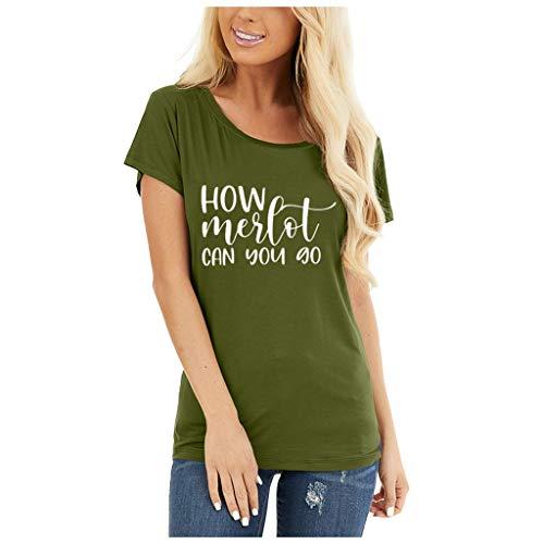 Kolylong T-Shirt Femme ete Grande Taille Manche Courte Chemisier en Forme de Coeur Imprimé léopard Pâques Lapin Tee Shirt F-Armée Verte EU 36(M)