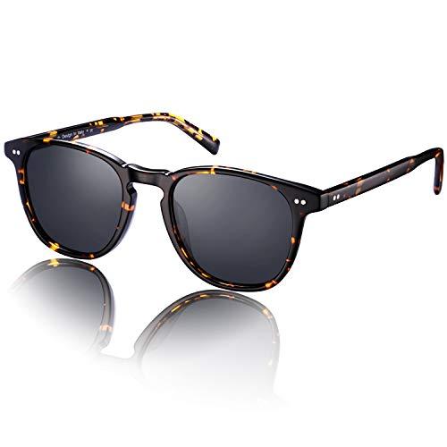 Carfia Vintage Occhiali da Sole Donna Polarizzati UV400 Protezione per Guidare Viaggiando