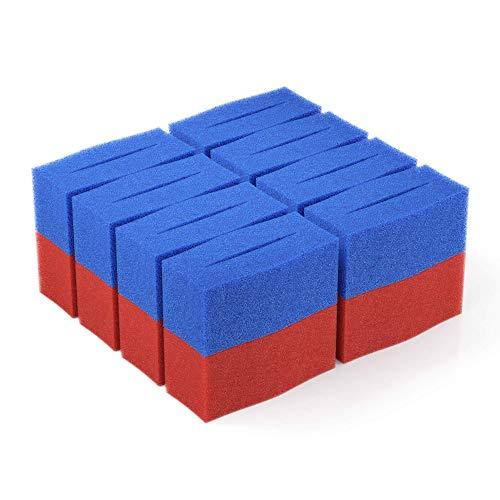 16x Ersatz Filter Schwamm passend für Oase BioTec 12 Screenmatic | Set 8X Blau 8X Rot - Koi Teich Ersatzschwämme | Ersatzteile Durchlauffilter Wasserklärer