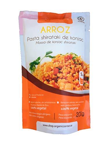 Pasta Konjac OrganicCenter - Surtido y variedades de diferentes sabores (Arroz Natural)