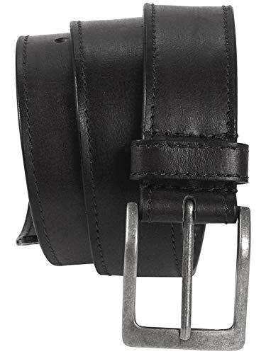 Harrys-Collection HC Damen Herren Safe Gürtel mit langem Reißverschluss Büffelleder, Bundweite:Bundweite 85 = Gesamtlänge 99, Farben:schwarz