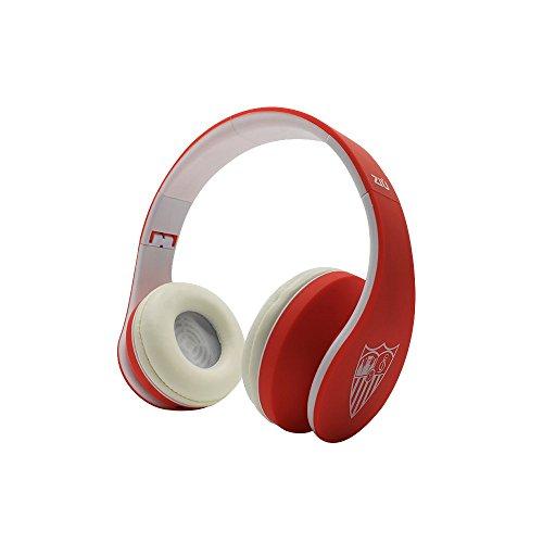 Ziu Smart Items Sevilla Fútbol Club - Auriculares Bluetooth, color rojo/blanco