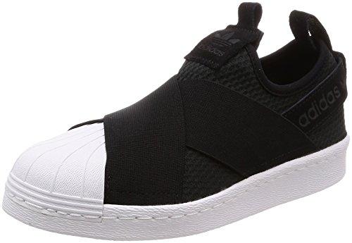 adidas Damen Superstar Slip On Gymnastikschuhe, Schwarz (Core Black/Core Black/FTWR White), 44 EU