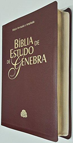 Biblia De Estudo De Genebra (Couro Bonded Vinho)
