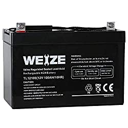 Best AGM deep cycle battery-  Weize 12V 100AH Deep Cycle